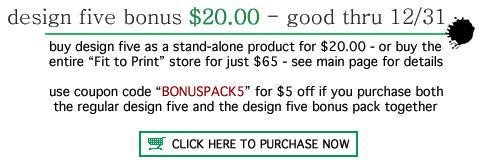 [design five bonus]